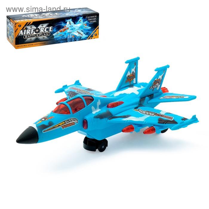 """Самолет """"Истребитель"""", работает от батареек, световые и звуковые эффекты"""