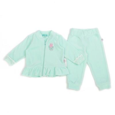 Комплект для девочки (джемпер на молнии+брюки), рост 104 см, цвет голубой ZBB 25390-G