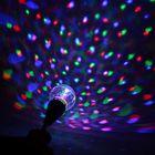 Лампа хрустальный шар диаметр 12 см., с подвесом 220V Уценка