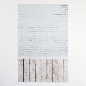 "Фотофон винил ""Белый кирпич"" стена+пол 80х125 см"