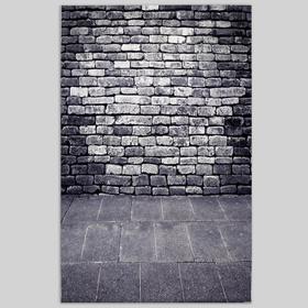 """Фотофон винил """"Серый кирпич"""" стена+пол 81х127 см"""