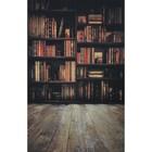 """Фотофон винил """"Библиотека"""" стена+пол 80х125 см"""