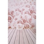 "Фотофон винил ""Розы"" стена+пол 80х125 см"