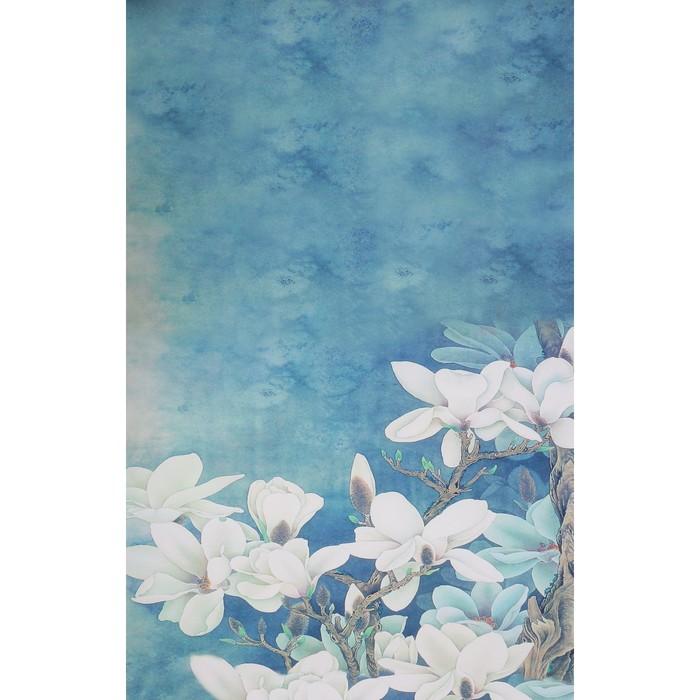 """Фотофон бумага """"Белые цветы"""" 80х125 см"""