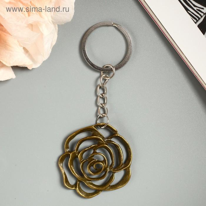 """Брелок металл """"Бутон розы"""" 4,5х4,2 см"""