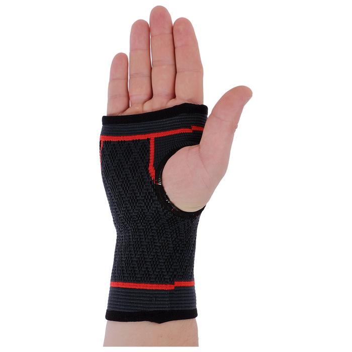 Суппорт запястья, размер универсальный (1 шт), цвет чёрный/красный