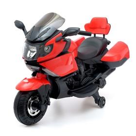 Электромобиль «Спортбайк», световые и звуковые эффекты, цвет красный