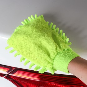 Mitten for cleaning dust and polishing, single-sided, 17x13.5 cm