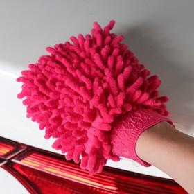 Варежка для уборки пыли и полировки TORSO, двухсторонняя, 19х13.5 см, МИКС