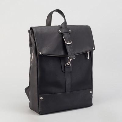 Сумка рюкзак муж FA-037, 32*13*33, отдел на молнии, н/карман, черный