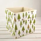 Короб для хранения «Ёлки», 27×27×27 см - фото 281306607