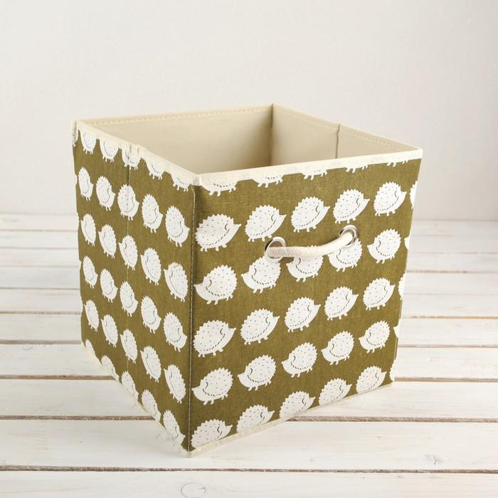 "Короб для хранения 27×27×27 см ""Ёжики"""