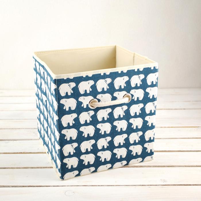 Короб для хранения «Северные мишки», 27×27×27 см - фото 209645061