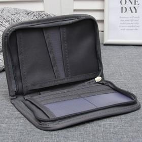 Кошелёк туристический, органайзер, отдел с карманами на молнии, цвет серый - фото 1773268
