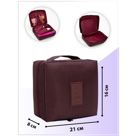 Cosmetic bag road Department, zippered pockets, color Burgundy