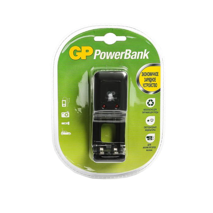 Зарядное устройство GP PB330, для аккумуляторов 2хАА/ААА, черный