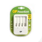 Зарядное устройство GP PB420, для аккумуляторов 4хАА/ААА, белый
