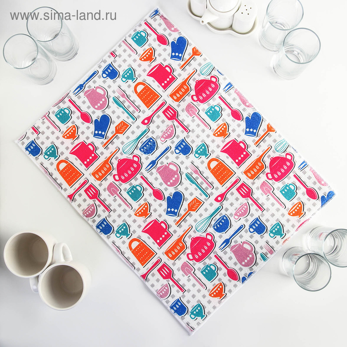 "Mat for drying dishes 38х51 cm ""Kitchen"""