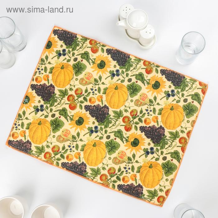 """Mat for drying dishes """"Pumpkin"""" 38х51 cm"""