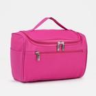Косметичка-сумочка, отдел с карманами на молнии, наружный карман, цвет малиновый