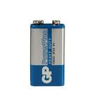 Батарейка солевая GP PowerPlus Heavy Duty, 6F22 (1604C)-1S, 9В, крона, спайка, 1 шт.