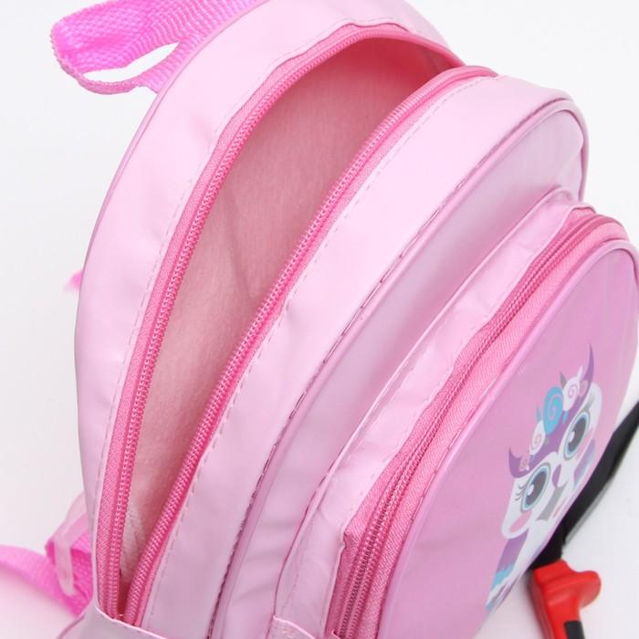 Рюкзак детский, отдел на молнии, цвет розовый - фото 371134479