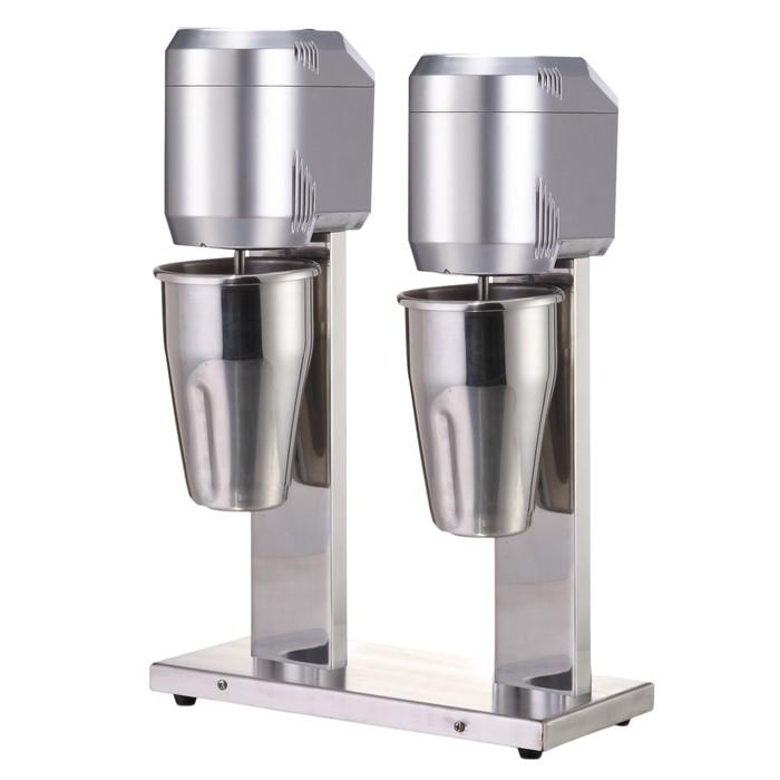 Миксер GASTRORAG W-MS-20 для коктейлей, 800 Вт, 2 стакана х 1 л, 2 скорости, серебристый