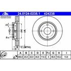 Диск тормозной ATE 24.0124-0238.1
