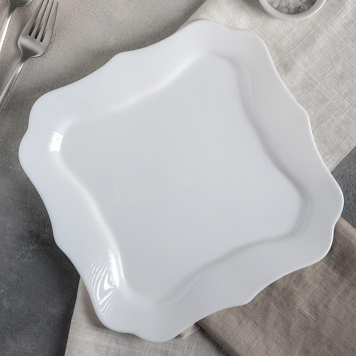Тарелка обеденная Luminarc AUTHENTIC WHITE, d=26 см - фото 308066899