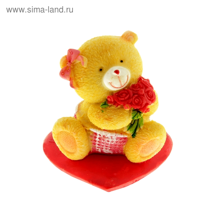 """Сувенир """"Медвежата милые на красном сердце"""", МИКС"""