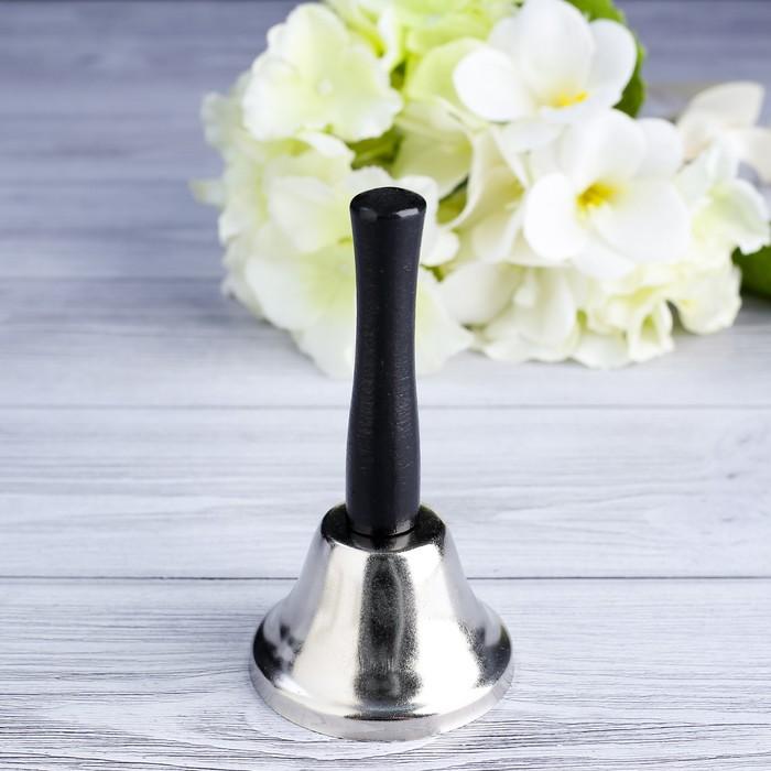 Колокольчик настольный Shine, 12 см, серебристый