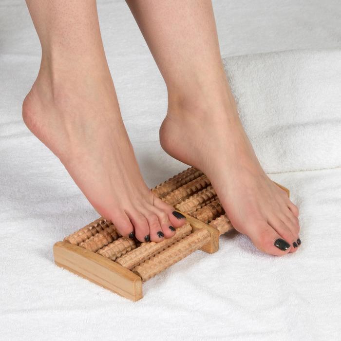 """Массажёр деревянный для ног """"Барабаны"""", 5 рядов"""