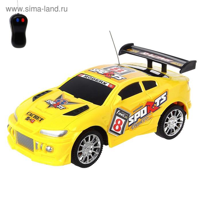 """Машина радиоуправляемая """"Супер скорость"""", работает от батареек, цвета МИКС"""