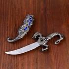 Сувенирный нож, 24,5 см резные ножны, дракон на рукояти - фото 8875153