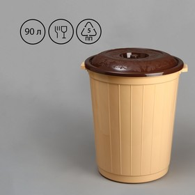 Tank, 90 l, with a lid, MIX color