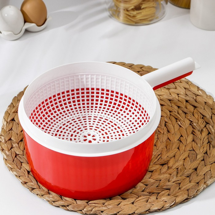 Сыродельница малая, цвет красный