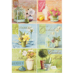 "Decoupage card ""Card bouquet"" the density of 45g/m2 format A4"
