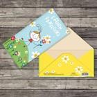 Открытка-конверт «Девочка с цветами», 16,5 х 8 см