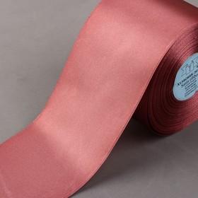 Лента атласная, 75 мм × 33 ± 2 м, цвет грязно-розовый №147
