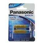 Батарейка алкалиновая Panasonic Evolta, AA, LR6-2BL, блистер, 2 шт.