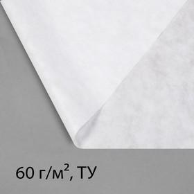 Материал укрывной, 10 × 1,6 м, плотность 60, с УФ-стабилизатором, белый, Greengo, Эконом 20%