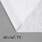 Материал укрывной, 5 х 1.6 м, плотность 60, УФ, белый, «Эконом»