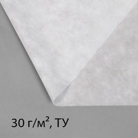Материал укрывной, 10 × 1,6 м, плотность 30, с УФ-стабилизатором, белый, Greengo, Эконом 20%