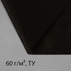 Материал мульчирующий, 10 × 1,6 м, плотность 60, с УФ-стабилизатором, чёрный, Greengo, Эконом 20%