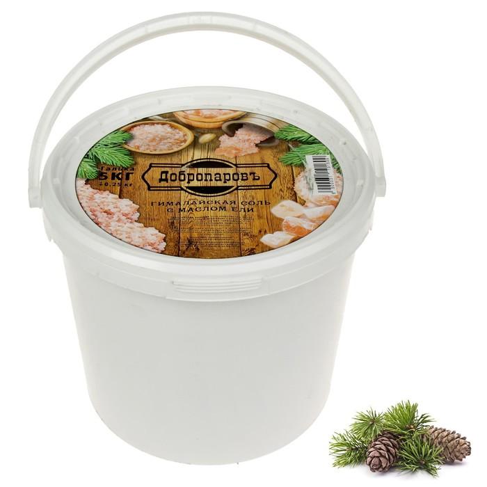 """Гималайская соль """"Добропаровъ"""" с маслом ели, розовая, галька, 50-120 мм, 5 кг"""