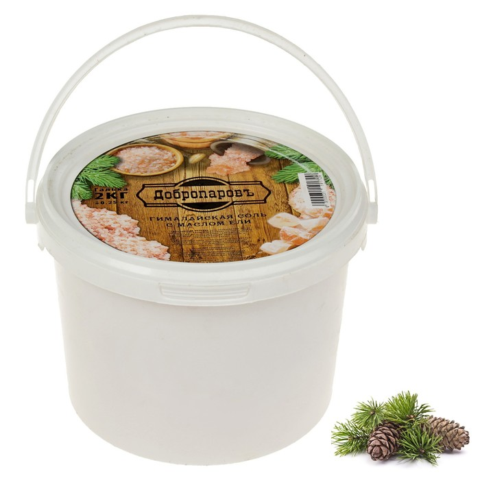 """Гималайская розовая соль """"Добропаровъ"""" с маслом ели, галька, 50-120мм, 2 кг"""