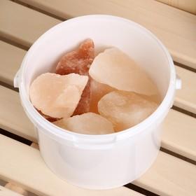 """Гималайская розовая соль """"Добропаровъ"""" с маслом апельсина, колотая, 50-120мм, 2 кг - фото 1399622"""
