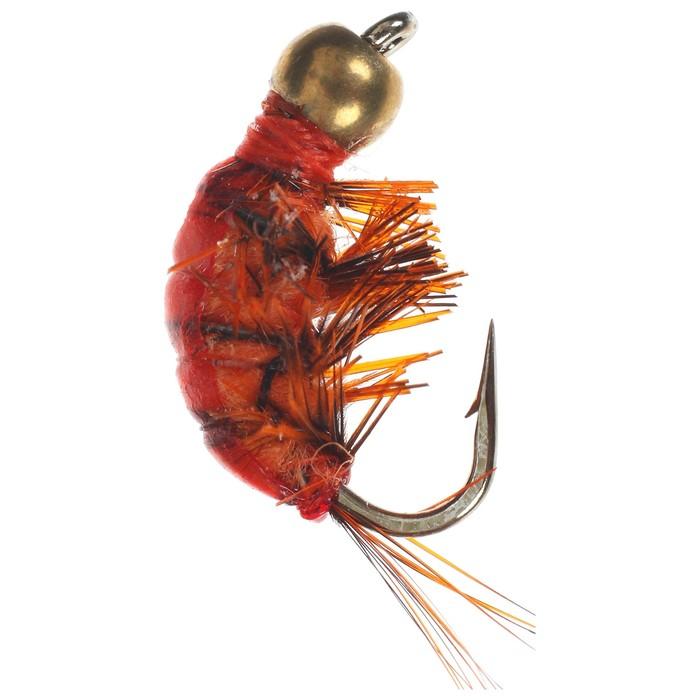 Мушка Gammarus Amphipod, 10, orange gold