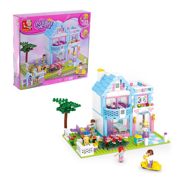 Конструктор «Розовая мечта: загородный дом», 539 деталей