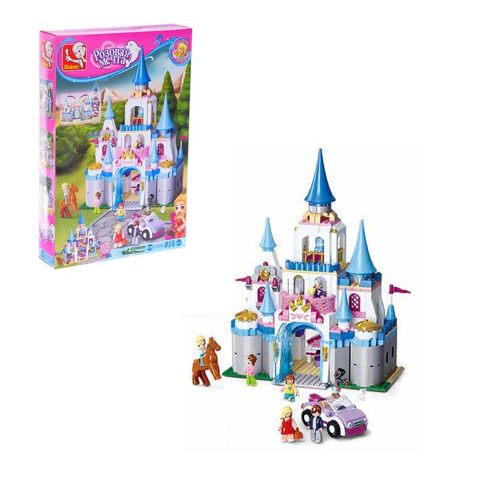 Конструктор «Розовая Мечта: дворец принцессы», 815 деталей